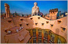 Hotel al lado de La Pedrera, Casa Milà, de Gaudí. Barcelona. Foto: Ed O'Keeffe