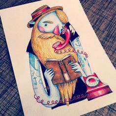 Bearded man on Behance