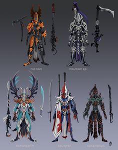 Eldar 40k, Warhammer Eldar, Warhammer 40k Memes, Dark Eldar, Fantasy Races, Fantasy Warrior, Dark Warrior, Armor Concept, Concept Art