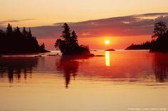 Image Detail for - USA, Michigan, Isle Royale National Park, Chippewa Harbor, sunrise