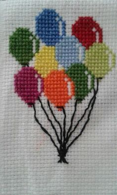 Cross stitch baloon