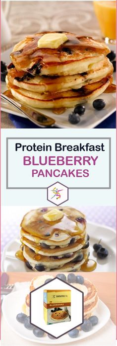 Start the day off right with the sweet taste of fresh blueberries in a fluffy pancake. With BariatricPal Hot Protein Breakfast – Blueberry Pancake, you can enjoy a protein-packed, energizing breakfast. Have them on their own as an instant delicious breakfast, or serve them with eggs.With these pancakes, you don't need to worry about the carbs or calories as you start your day off right. Each packet of blueberry pancakes has 110 calories, 9 grams of carbs, and 15 grams of protein. What a