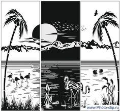 Пескоструйный рисунок Пейзаж пляж №45