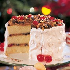 Holiday Lane CakeHoliday Lane Cake RecipeWe've made this fancy Southern cake doable for anybody. The shortcut? Cake mix and frosting mix. You're just in charge of the gooey filling and baking the cake, of course Round Cake Pans, Round Cakes, Best Cake Mix, Cake Fillings, White Cake Mixes, Cake Mix Recipes, Yummy Recipes, Let Them Eat Cake, Pain