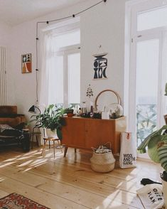 Realistic view from my bed with a messy sideboard but some lovely sun rays 🌞💫 Werbung [Samples/Verlinkungen] Deco Studio, Uo Home, Interior Minimalista, Pinterest Home, Home And Deco, Cozy House, Home And Living, Interior Inspiration, Home Remodeling