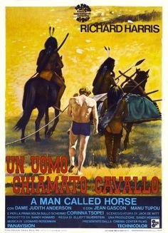 A Man Called Horse (Aka Un Uomo Chiamato Cavallo) Italian Poster Center: Richard Harris 1970 Movie Poster Masterprint (11 x 17)