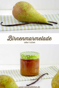 Pear jam with vanilla and cinnamon - Schnin's Kitchen, Healthy Eating Tips, Healthy Nutrition, Healthy Recipes, Pear Jam, Iron Rich Foods, Vegetable Drinks, Kitchen Gifts, Food Menu, Diy Food