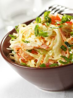 Reduced-Fat and -Calorie Coleslaw