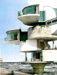 70 Stunning Brutalist Architecture Design That You Must Know - DecOMG Unusual Buildings, Interesting Buildings, Amazing Buildings, Architecture Unique, Futuristic Architecture, Interior Architecture, Movement Architecture, Futuristic Houses, Futuristic Bedroom