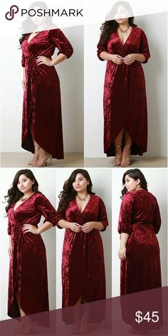 New 1x Plus size womens velour dress will fit 2x New 1x plus size womens velour dress, can fit up to 2x Dresses