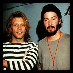 Bon Jovi and Keanu Reeves