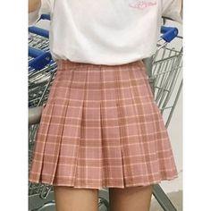 Fashion Plaid Pattern Pleated Mini Skirt