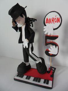 Fofucho Michael Jackson  pieza central del evento, adorno decoración de tu pastel o suvenir