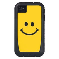 Customizable Smiley Face #iPhone 4 Case - Tough Xtreme Style #SmileyFace #yellow