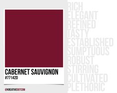How does the color CABERNET SAUVIGNON (#77142d) make you feel? What emotions does it evoke in design?