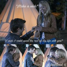 Awwww how cute Watch Heartland, Amy And Ty Heartland, Heartland Quotes, Heartland Ranch, Heartland Tv Show, Ty And Amy, Graham Wardle, Amber Marshall, Strong Family