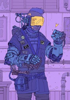 The second initiate at the Cyber-Dojo, RoadSec 2018 Cyberpunk 2077, Arte Cyberpunk, Illustrations, Illustration Art, Character Concept, Character Art, New Retro Wave, Cyberpunk Aesthetic, Landsknecht