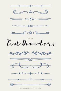 FREE Text Dividers – Designs By Miss Mandee. 11 hand drawn, whimsical lines, per… FREE Text Dividers – Designs By Divider Design, Cool Doodles, Stationary Design, Journal Design, Free Text, Bullet Journal Inspiration, Doodle Inspiration, Design Inspiration, Grafik Design