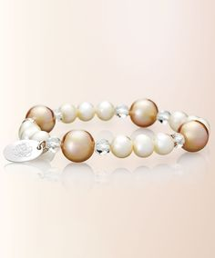 Fresh water pearls and rock crystals