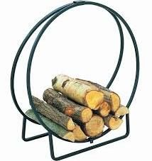 Metal Log Holders - The Log Circle - Black is a simple but sturdy and stylish log holder, perfect for storing logs to burn or as a feature in your room. Fireplace Set, Gas Fireplace Logs, Electric Fireplace, Log Store Indoor, Log Carrier, Firewood Logs, Log Holder, Gas And Electric