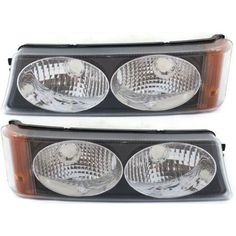 Replacement Front Headlights Corner Turn Signal Lights 6 PC Set Left /& Right National RV Dolphin 2002 RV Motorhome Pair