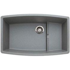 Blanco B440067 Preforma White/Color Undermount - Single Bowl Kitchen Sink - Metallic Gray