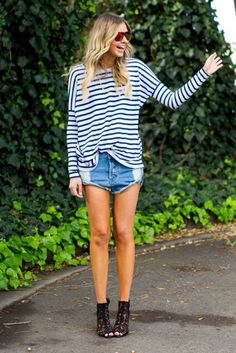 stripes and cut offs