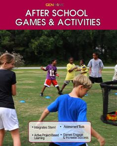After School Games & Activities that incorporate STEM & Project Based Learning!