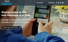 amazonrapids, app de lecturas de historias infantiles a modo de mensajería movíl