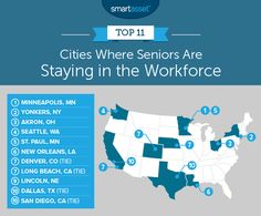 SmartAsset examined Census Bureau data to find the places where seniors are staying in the workforce. We discovered that in many cities, seniors. Retirement Age, Retirement Planning, Ask For A Raise, Places In America, Forced Labor, Two Decades, Shed Plans, Career Advice, Long Beach