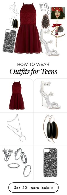 """""""Party All Night *"""" by are-you-fashionable on Polyvore featuring New Look, Giuseppe Zanotti, Skinnydip, CÉLINE, Ladurée and GET LOST"""