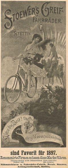 Stoewer Greif Fahrrad Fahrräder Rad Stettin Fabrik Werbung 1896 Reklame (6) | eBay
