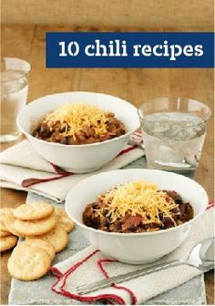 10 Chili Recipes — Whether you're planning a summer party or looking for an easy slow-cooker recipe, we've got the chili recipes that will score points with the dinner crowd.