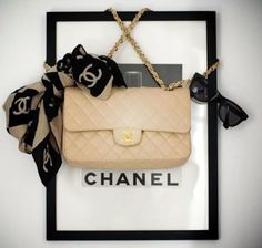 Chanel bag and accessories.