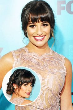 Lea Michele's braided chignon. See it and 23 other wedding-ready hairstyles.