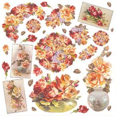 Ricepaper/ Decoupage paper, Scrapbooking Sheets /Craft Paper Roses