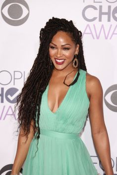 Pin for Later: Every Gorgeous Hair and Makeup Look From the People's Choice Awards Meagan Good s  The Minority Report actress drew attention to her eyebrows on fleek with a long, thin cat eye.