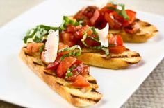 Bruschetta with Hot Cherry Tomatoes.