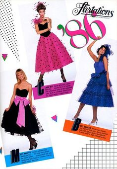 prom 87 - These Were The Biggest Prom Trends From The Year You Went To Prom - Photos 1980s Prom, 80s Party Outfits, New Retro Wave, Prom Poses, 80s And 90s Fashion, Vintage Prom, Looks Chic, Tiered Dress, Friend Photography