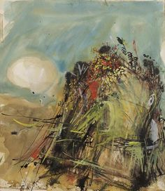 'Corn' by Joan Eardley (mixed media) Abstract Nature, Abstract Canvas, Abstract Landscape, Landscape Paintings, Art Nature, Glasgow School Of Art, Contemporary Abstract Art, Painting Inspiration, New Art