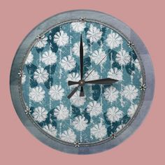 Inspired Flowers and Butterflies Wallclock by joacreations