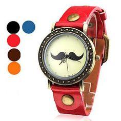 Casual Süß Stil Damen und Mädchen Armring Quarz Wasserdicht Armbanduhr PU Armband