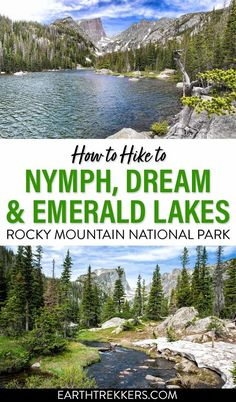 How to hike to Emerald, Dream, Nymph, Bear, and Haiyaha Lakes in Rocky Mountain National Park. #rmnp #emeraldlake #nationalpark #hiking American National Parks, National Parks Usa, Grand Teton National Park, Rocky Mountain National Park, Colorado Hiking, Granby Colorado, Emerald Lake, Best Hikes, Travel Activities
