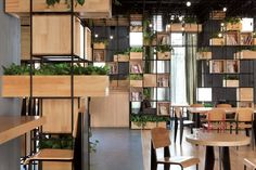 Home Café by Penda - using recycled steel reinforcing bars