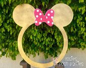 Gold and Pink Minnie Mouse ROUND photo booth Clubhouse birthday party Gold and Pink photo booth or photo prop decoration Daisy Minnie Mickey