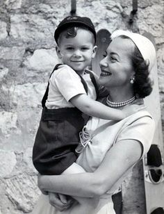 Olivia de Havilland and son Benjamin