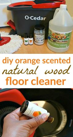 We love the scent of this DIY orange natural wood floor cleaner, a great way to start cleaning your home the natural way. Also, you have to see this mop! Cheap Wood Flooring, Bamboo Wood Flooring, Cleaning Wood Floors, Natural Wood Flooring, Wood Laminate Flooring, Diy Flooring, Natural Wood Floor Cleaner, Homemade Wood Floor Cleaner, Homemaking