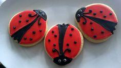 Lady Bug Sugar Cookies  1 dozen by DelishBakeShoppe on Etsy, $23.00