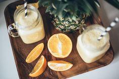 Pineapplefruitie // Annika O. Juices, Smoothies, Panna Cotta, Pineapple, Ethnic Recipes, Food, Smoothie, Dulce De Leche, Pine Apple