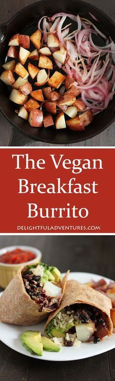 """Love breakfast burritos? Well, you're going to love this Vegan Breakfast Burrito recipe from the Minimalist Baker's new recipe book """"Everyday Cooking!"""""""